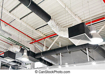 Ventilation - Industrial air duct ventilation equipment at...