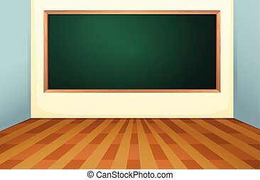 Classroom and board - Illustration of an empty classroom...