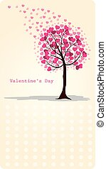 Valentine card - Illustration of a valentine card with love...