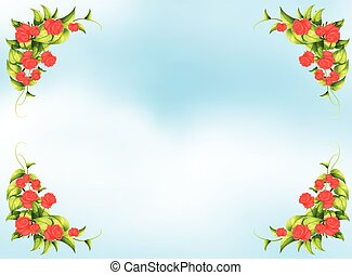 Rose frame - Beatiful frame of red rosses