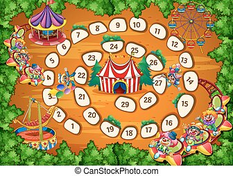 Boardgame - Illustration of a boardgame with carnival...