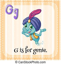 Genie - Flashcard alphabet G is for genie