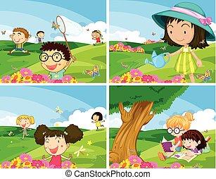 Children outdoor