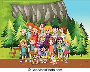 Family and park - Family reunion in the national park