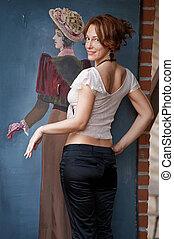 Women and retro picture