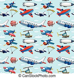 Seamless aircrafts - Seamless different types of aircrafts