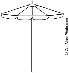 Beach umbrella - Close up simple design of beach umbrella