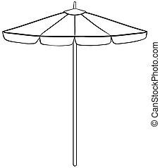 Beach umbrella - Close up simple design of beach umbrella
