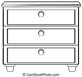 Drawer Clip Art Black and White – Clipart Free Download