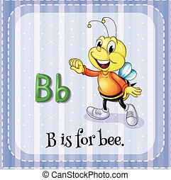 Letter B - Flash card letter B is for bee