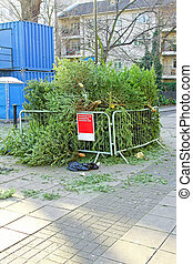 Tree collection site - Collection site for composting old...