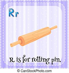 Rolling pin - Flashcard alphabet R is for rolling pin