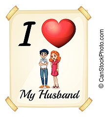 Husband - I love my husband sign