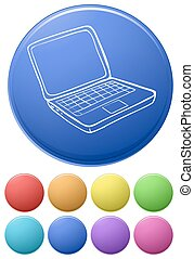 Computer icons - Illustration of different color computer...