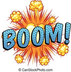 Boom - Expression of a word boom