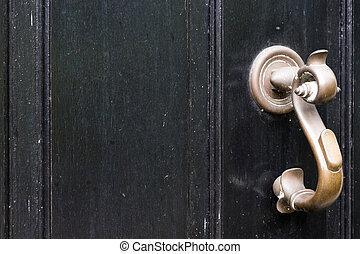 Black Door with Handle