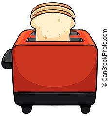 Toaster - Close up toaster with bread toasted