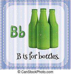 Bottles - Flashcard alphabet B is for bottles