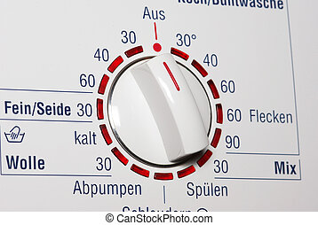 Washing machine - temerature dial