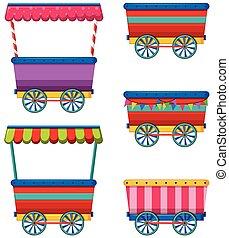 Vendors - Different designs of carts and vendors