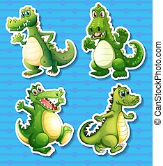 Green dragon - Four green dragon in different positions