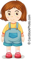 Young girl - Close up young girl wearing jumpsuit