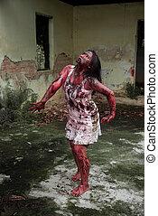 zombie, girl, ,