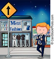 Mens Fashion - Man in suit standing in front of Mens Fashion...