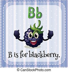 Blackberry - Flashcard letter B is for blackberry