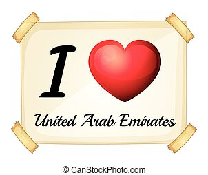 United Arab Emirates - Poster I love United Arab Emirates on...