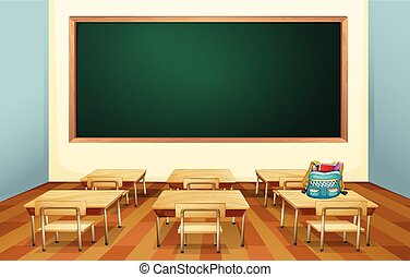Classroom - Illustration of an empty classroom