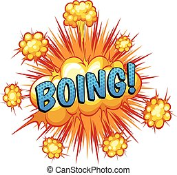 Word expression - Word Boing with cloud explosion in the...