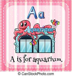 Aquarium - Flashcard letter A is for aquarium