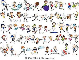 Doodles sports - Doodles different kind of sports
