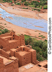 view from a moroccan casbah - view from a traditional...