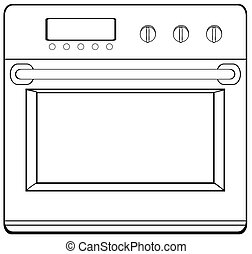 Doodle oven - Single electronic oven with handle and screen