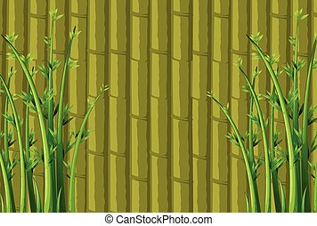 Bamboo background - Illustration of a bamboo wall