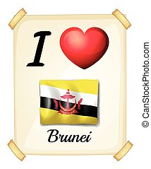 I love Brunei - Poster of I love Brunei on the wall
