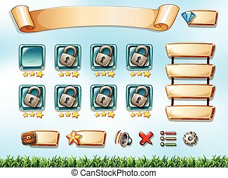 Computer game - Illustration of a computer game with a...
