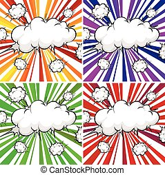 Clouds explosions