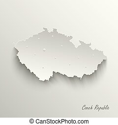 Abstract map Czech Republic template vector eps 10