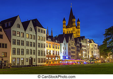 view of historic center of Cologne, Germany