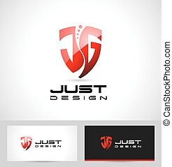J G Letters Design Logo. Creative abstract J G icon logo and...