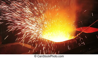 Form steel casting - In Ingot molds for casting steel