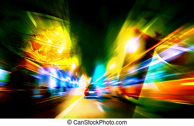 alcoholic beverages and driving - abstract background...