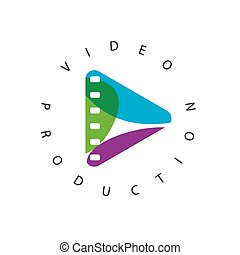 vector logo abstract play button