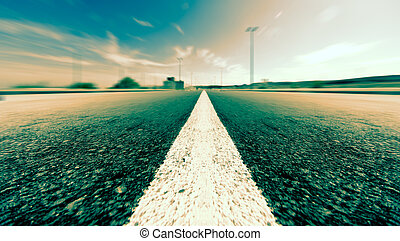 Road and speed background
