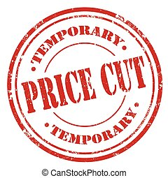 Price Cut - Grunge rubber stamp with text Price Cut,vector...