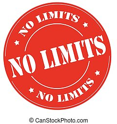 No Limits - Red stamp with text No Limits,vector...