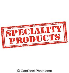 Speciality Products - Grunge rubber stamp with text...